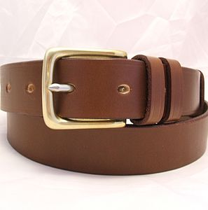 Handmade Charlie English Leather Belt - men's accessories
