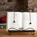 Ornate Metal Cook Book/Recipe Stand Holder