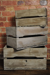 Reclaimed Wood Apple Crates