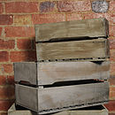 Reclaimed Wood Apple Storage Crate