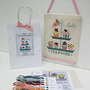 Butterfly 'Tea Room' Cross Stitch Kit