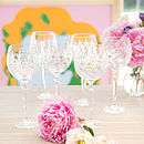 Pure Lux Crystal Wine Goblet, Set Of Two