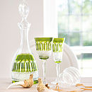 Olive Green Rainbow Decanter