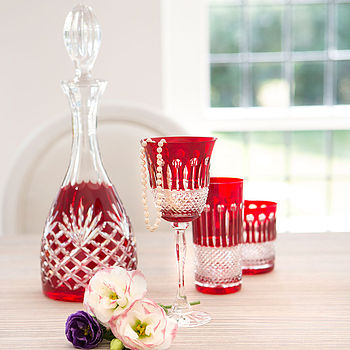 Ruby Crystal Decanter