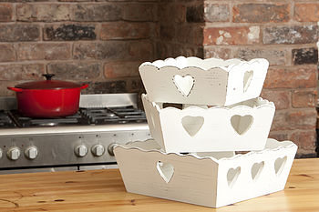 Wooden Heart Box Tray
