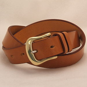 Handmade Delta English Leather Belt - mens