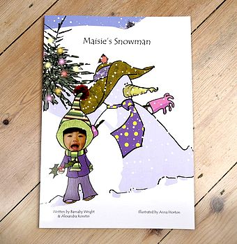 Personalised Christmas Snowman Adventure Book