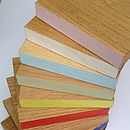 colour edges available for Solid Oak Shelf