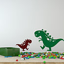 Friendly Pair Of Dino Dinosaur Wall Stickers