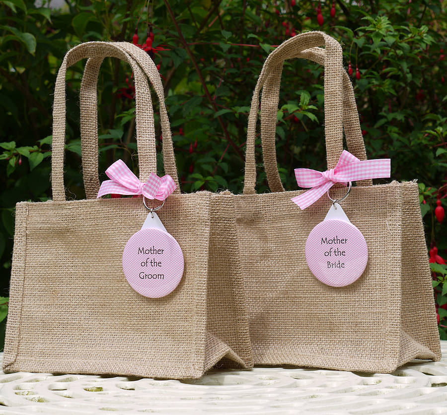 personalised wedding gift bag & keyring by andrea fays ...