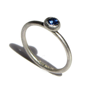 Blue Sapphire And Sterling Silver Ring - rings