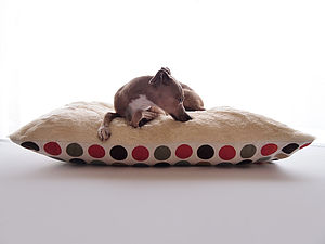 Luxury Faux Fur Fleece Top Dog Bed - floor cushions