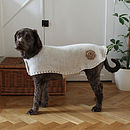 Crochet Flower Alpaca Dog Jacket