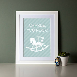 'You Rock' Personalised Baby Name Print - posters & prints