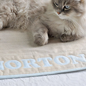 Personalised Handmade Quilted Pet Blanket - stylish pet accessories for the home