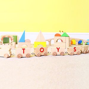 Personalised Natural Wooden Name Train - toys & games