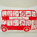 London Bus Organic Children's Cushion Cover