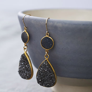 Druzy And 14k Gold Fill Earrings