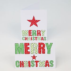 Festive Red And Green Christmas Cards