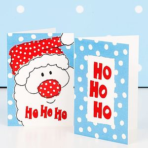 Festive Ho Ho Ho Mini Christmas Cards