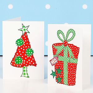'Festive Essentials' Mini Christmas Card Pack - cards & wrap