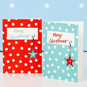 Festive Merry Christmas Mini Christmas Cards - christmas sale