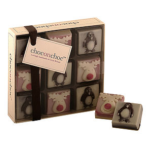 Chocolate Reindeers And Penguins - stocking fillers under £15