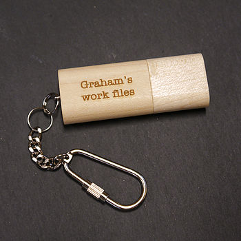 Personalised Wooden USB Keyring