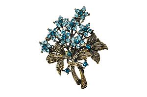 Turquoise Bouquet Hairclip & Brooch - hair accessories