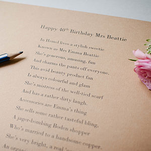 Bespoke Wedding And Special Occasion Poem By Email
