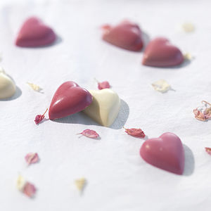 Chocolate Pink Hearts - wedding favours