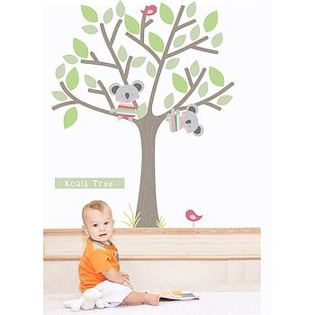 Koala Tree Fabric Wall Stickers