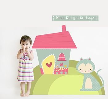 Miss Kittys Cottage Fabric Wall Stickers