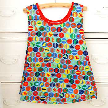 Children's Waterproof Tabard Apron- Traffic design