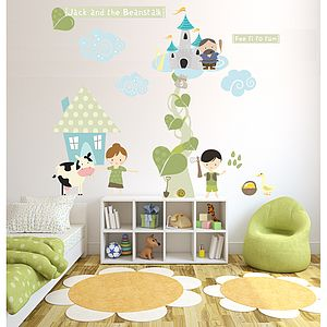 Jack And The Beanstalk Fabric Wall Stickers