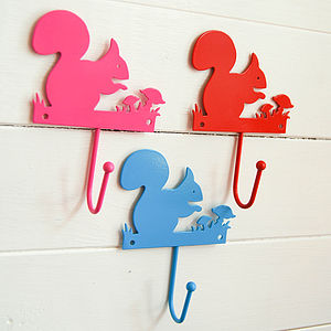 Squirrel Wall Hook - hooks, pegs & clips