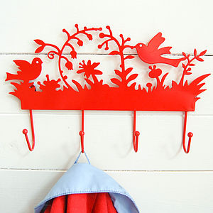 Bird Wall Hook - hooks, pegs & clips