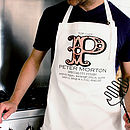 Father's Day Personalised Vintage Monogram Apron