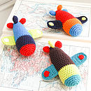 Handmade Crochet Airplane Rattle