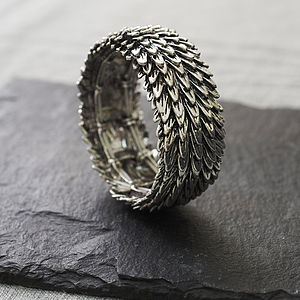 Metal Feather Bracelet - women's jewellery