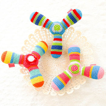 Handmade Crochet Propeller Rattle