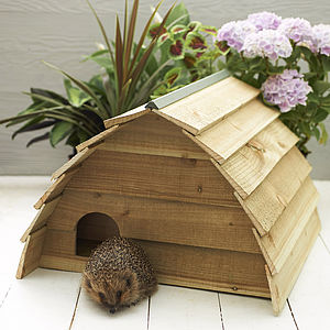 Wooden Hedgehog House - beds & sleeping