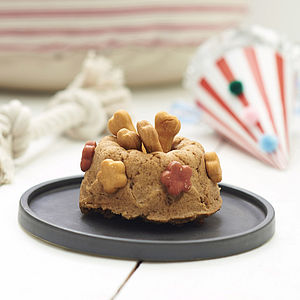 Peanut Butter Dog Celebration Cake - gifts for your pet