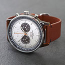 Leather Strap Nevil Chronograph Watch