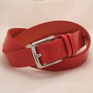 Handmade Echo English Leather Belt - autumn hues: for him