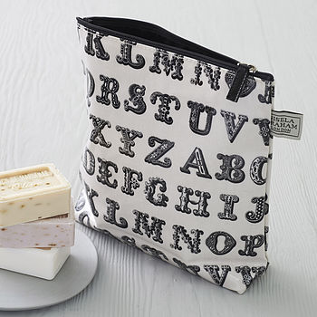 Typography Wash Bag
