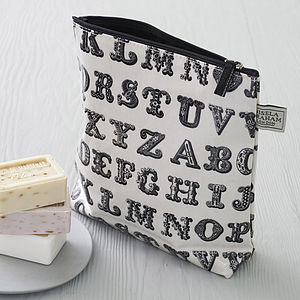 Typography Wash Bag - bags & purses