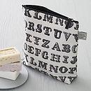 Typography Wash Bag