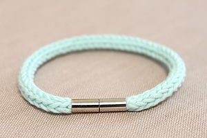 Knitted Cord Bracelet With Magnetic Clasp - bracelets & bangles