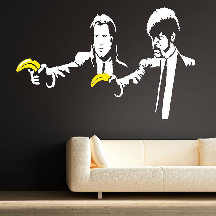 Banksy Pulp Fiction Wall Stickers